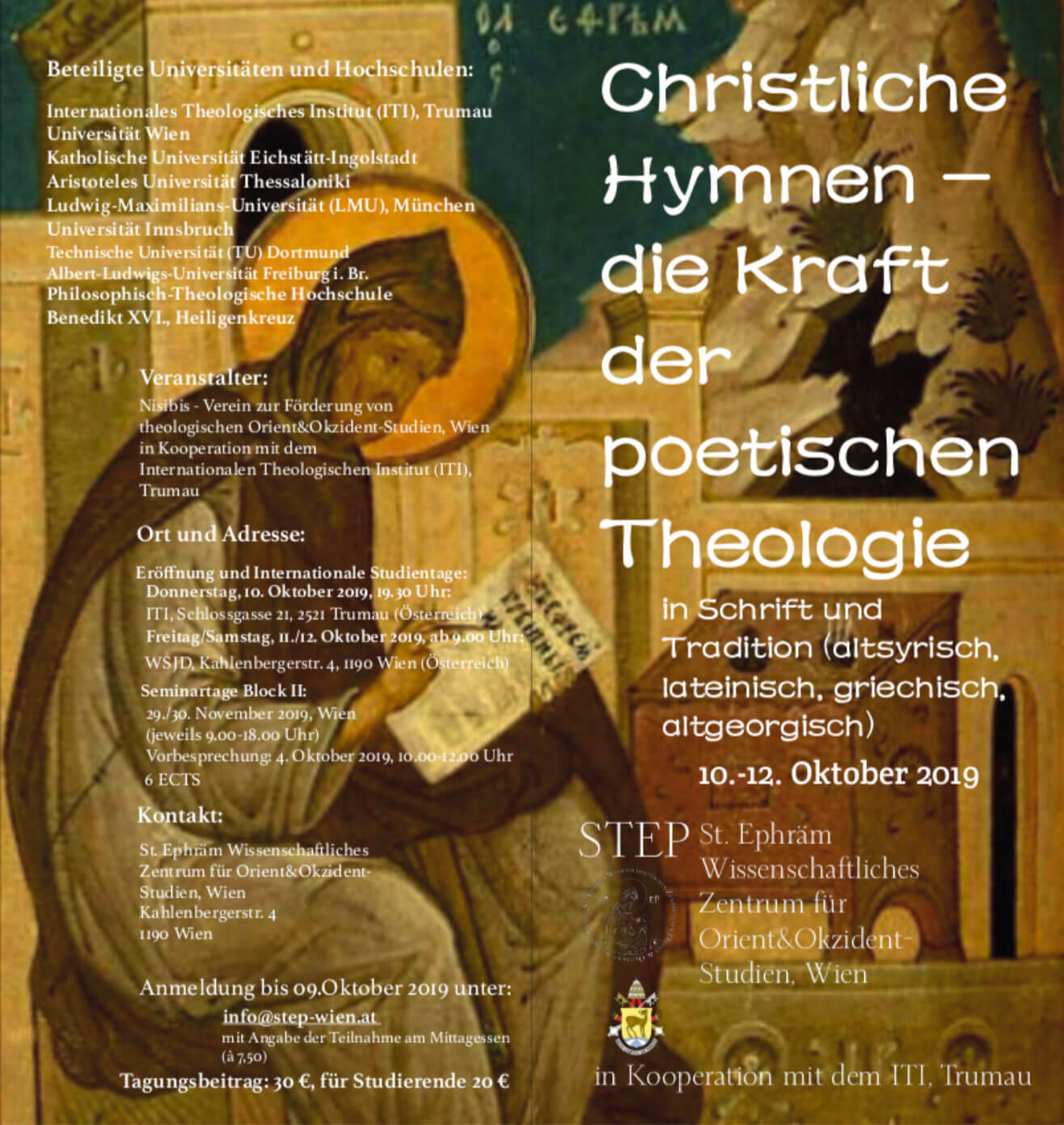 St. Ephräm Christliche Hymnen Flyer Download Thumb